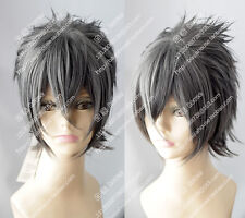 cosplay wig Noctis Lucis Caelum Final Fantasy XV 15 Dark Gray Short hair wig