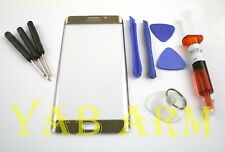 Samsung Galaxy S6 Plat Gold Edge Plus Front Glass Lens Screen Replacement Kit