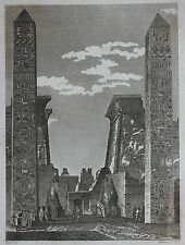 Original antique print ANCIENT EGYPT, LUXOR, Cooke c.1810