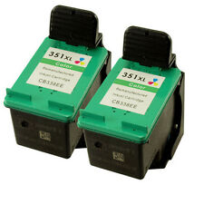 2x HP 351XL CB337EE Refill Ink Cartridges for HP Photosmart C4205 C4210 C4240