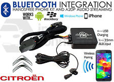 CITROEN Bluetooth streaming mains libres appels ctactbt002 aux USB MP3 iPhone Sony