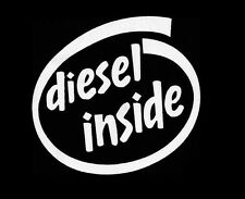 Diesel inside dodge ford chevy vw tdi jetta window sticker vinyl decal #188