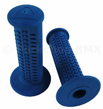 AME old school BMX CAM CAMS bicycle grips - BLUE *MADE IN USA*