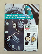 E109 - Advertising Pubblicità - 1987 - TAG HEUER SERIE EXECUTIVE