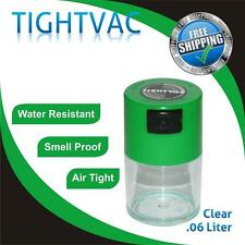 .06 Liter Tightvac Vitavac Air & Smell Proof Vacuum Sealed Container Green Clear