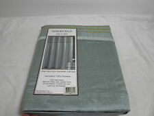 New Victoria Classics Fabric Shower Curtain WAKEFIELD 72X72 Seafoam Blue NIP