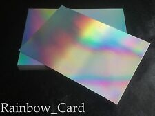 50 SHEETS - SILVER RAINBOW HOLOGRAPHIC A4 CRAFTING CARD 280 GSM