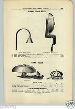 1906 PAPER AD Locomotive Trip Gong Bell Store Alarm Bells House Door Bell
