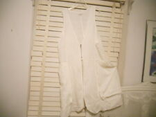 Hebbeding Dutch Design~ Arr to Wear ~ White Long Quirky Linen Vest Waistcoat ~ 2
