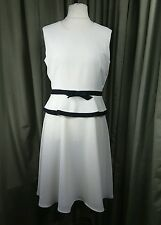 Simon Ellis Sailor Boating Great Gatsby 20s style Drop Waist Cream Dress 14