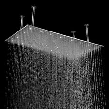 "New 20""x40"" Rectangle Stainless Steel Ceiling Rainfal Shower Head Brushed Nickel"