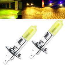 2x H1 12V-100w Hyper Yellow 3000K Halogen HID High Beam Light Bulbs Free Ship