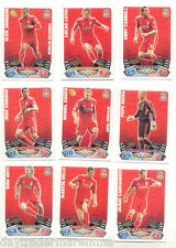 2011/12 Topps Match Attax team set LIVERPOOL