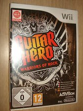 GIOCO NINTENDO WII GUITAR HERO WARRIORS OF ROCK COMPLETAMENTE IN ITALIANO
