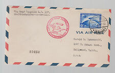 1930 Germany Graf Zeppelin South America Flight Cover  # C38
