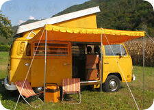 Top Quality Vintage Sun Canopy for VW camper van bus yellow 3 poles C8540
