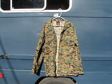 USMC NAVY WOODLAND CAMO MARPAT UNIFORM COAT BLOUSE MEDIUM X-LONG FINLEY 1-A