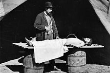 New 5x7 Civil War Photo: Embalming Surgeon at Work on Dead