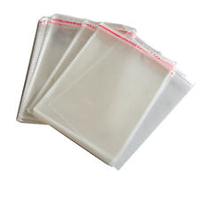 100 x New Resealable Clear Plastic Storage Sleeves For Regular CD Cases Xx