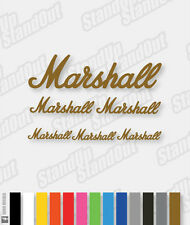 Marshall Amp / Guitar Style Decal - 16+ Custom Colours