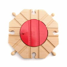 8 Way Turntable Wood Wooden Railway Railroad Train Track Set For Brio Bigjig Toy