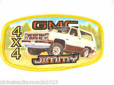 NOS GMC JIMMY 4X4 FULL COLOR SEW-ON PATCH GREAT FOR HATS VEST JACKETS