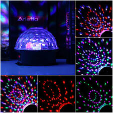 6 Colors LED Crystal Magic Ball Effect Light Disco DJ Stage Party US Plug FT