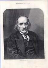 1872 Prof Richard Owen Frs Full-page Portrait