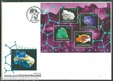 CENTRAL AFRICA  2014 MINERALS SHEET II  FIRST DAY COVER