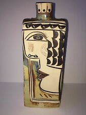 Vintage mid century ceramic signed  Picasso style Art pottery Vase