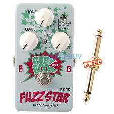 Biyang FZ-10 Three Models Fuzz Star Distortion Pédale Effet Guitare & Connector