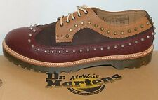 NWT Dr. Martens Men Studded Shoes Dallon Dark Brown Leather Brogue Wingtip Sz 13