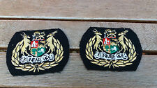 SADF- South African ARMY Command Warrant Officer 1 Class  rank badges1980's X2