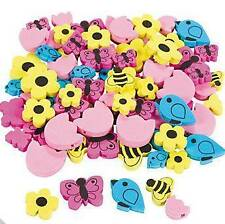 40 Birds and Bees Spring Beads Foam Craft Kids Flower Butterfly