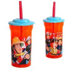 Feuerwehrmann Sam - Trinkbecher mit Strohhalm 400 ml