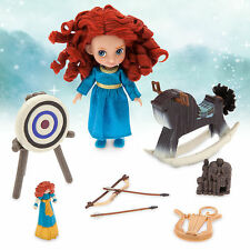 "Disney Store Brave Princess Merida Animator 5"" Toddler Doll Box Play Set Figure"