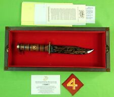 1984 US KA-BAR KABAR Limited 4 Marine Devision Commemorative Fighting Knife #196