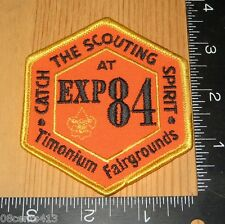 Catch the Scouting Spirit at Exp 84 Timonium Fairgrounds Boy Scouts Cloth Patch