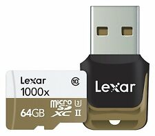 Lexar Professional 64gb class 10 high-performance 1000x micro SDXC UHS-II Memory