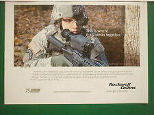 4/09 PUB ROCKWELL COLLINS DAYLIGHT VIDEO GUNSIGHT GPS HELMET MOUNTED DISPLAY AD