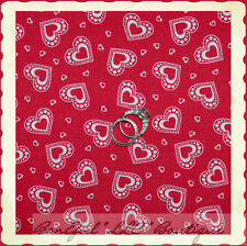 BonEful Fabric FQ Cotton Quilt Red Pink White Candy Calico S Valentine Heart Dot