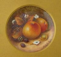 Christopher Hughes Fruit Painted Porcelain Picture (Royal Worcester Artist)