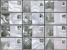 #3910a-3910l 37c Modern American Architecture, Fleetwood FDC **ANY 4=FREE SHIP