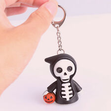 LED Skull Light Torch For Halloween Party Scary Sound Toy Favor Supply Keyring