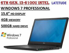 "Dell Latitude15 3570 Laptop Intel i3-6100U 4GB 500GB DVDRW 15.6"" Webcam Win7 PRO"