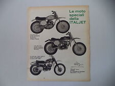 advertising Pubblicità 1969 MOTO ITALJET 100 CROSS/175 CROSS/CZ 360 MC