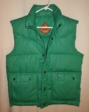 VTG. DOWN VEST SKOR GREEN PUFFY PUFFER SIZE SMALL