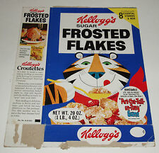 1975 Frosted Flakes Cereal Box w/ Tony Tiger Game premium offer