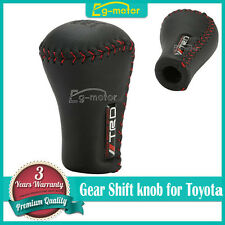 Black Leather Red Stitch 5SP Manual Shifter Shift Knob TRD For Toyota Lexus