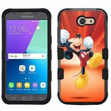 for Samsung Galaxy J3 Emerge (2017) Rugged Impact Hybrid Case Mickey Mouse #Y